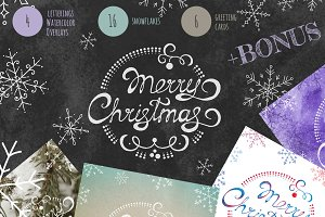 Christmas Overlays + Cards set