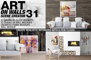 Canvas Mockups - Frames Mockups v 31