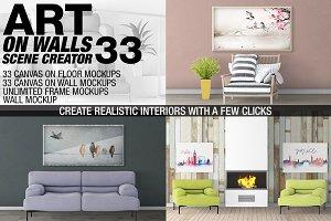 Canvas Mockups - Frames Mockups v 33