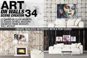 Canvas Mockups - Frames Mockups v 34