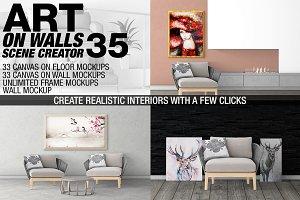 Canvas Mockups - Frames Mockups v 35