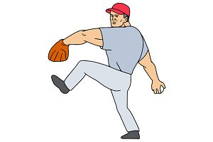 Baseball Player Pitcher