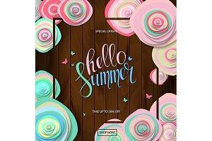 3 Summer sale poster