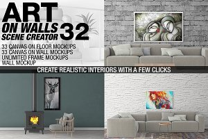 Canvas Mockups - Frames Mockups v 32