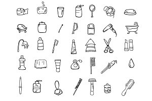 Set of icons hygiene