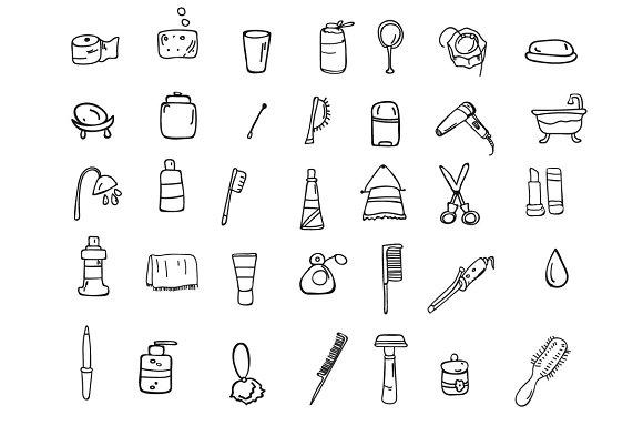 Set of icons hygiene
