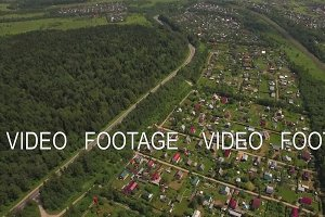 Aerial view of summer house community, Russia