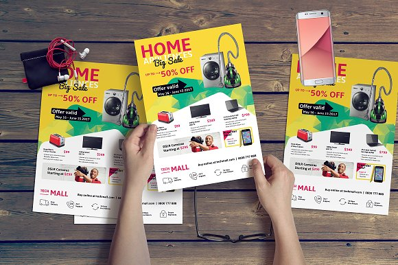 Retail Flyer Template Flyer Templates Creative Market