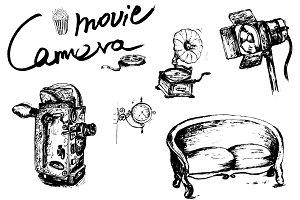 Vintage camera movie