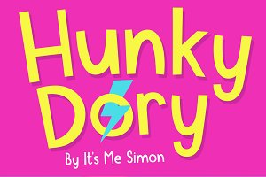 Hunky Dory font