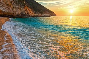 Sunset Myrtos Beach (Greece)
