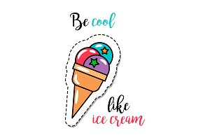 Fashion patch element ice cream