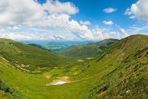 Summer Carpathian mountain