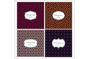 Seamless multicolor geometric patterns with frames