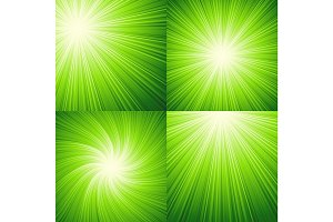 Sunbeams green  vector illustration background