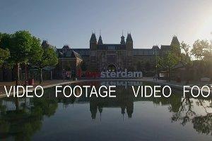 I amsterdam near Rijksmuseum, aerial