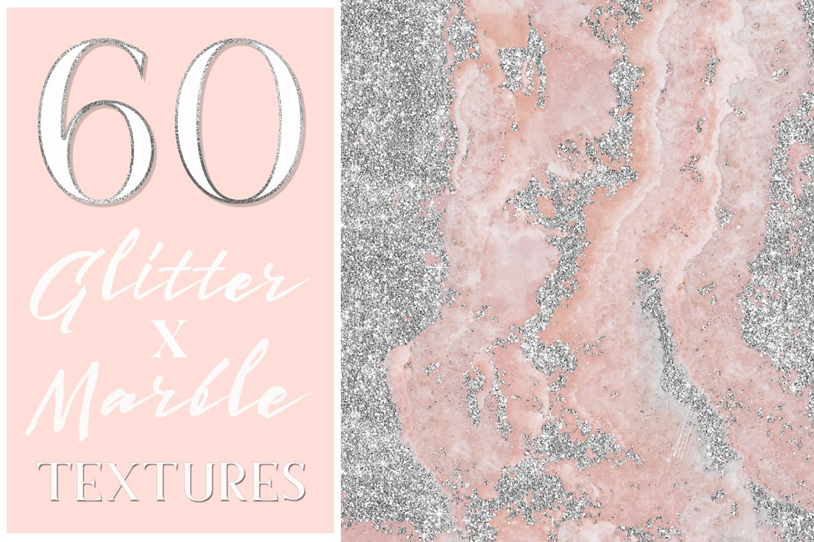 Glamorous Glitter X Marble Textures Textures Creative
