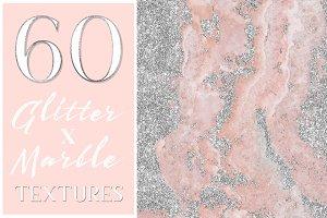 Glamorous Glitter x Marble Textures