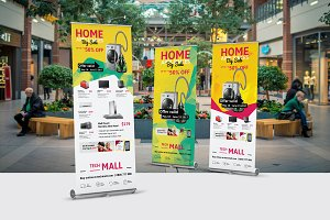 Retail Roll-Up Banner