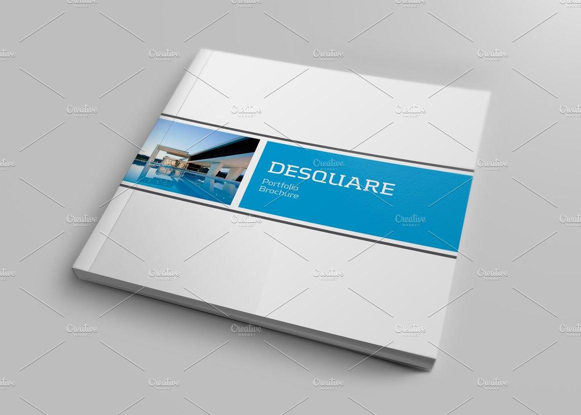 portfolio brochure template - square portfolio brochure brochure templates creative