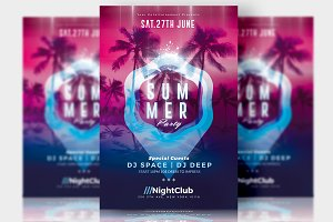 Summer Party - Flyer Template
