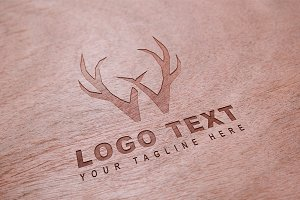 Antler W Logo & Mock-Up - Vector