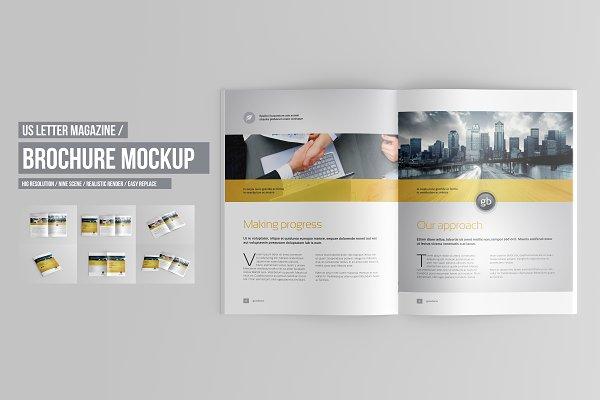 US Letter Brochure / Catalog Mockup