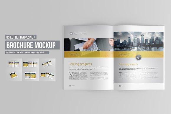 Download US Letter Brochure / Catalog Mockup