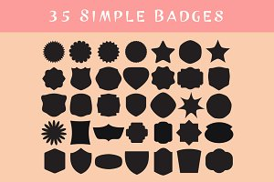 35 Simple Badges