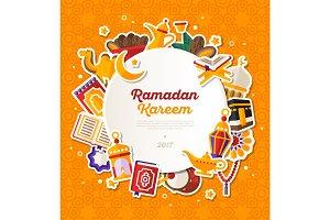 Ramadan Kareem Circle Banner