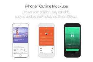 iPhone™ Outline Mockups