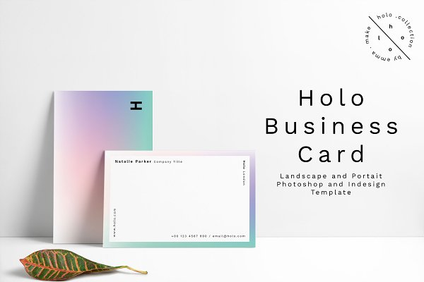 Business Card Templates: Emma Make - Holo Business Card Design