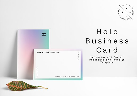 Holo business card design business card templates creative market friedricerecipe Choice Image