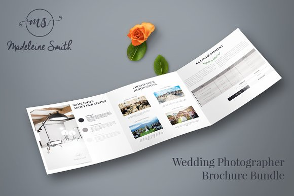 MADELEINE - Wedding Brochure Bundle ~ Brochure Templates ~ Creative ...