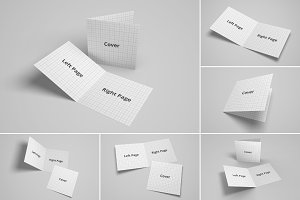 Bifold Brochure/Greeting Card Mockup
