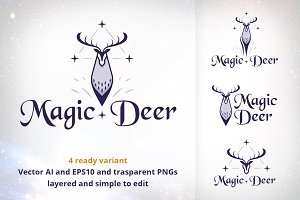 Magic Deer Logo Collection