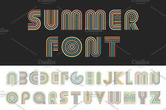 Colorful Striped Alphabet