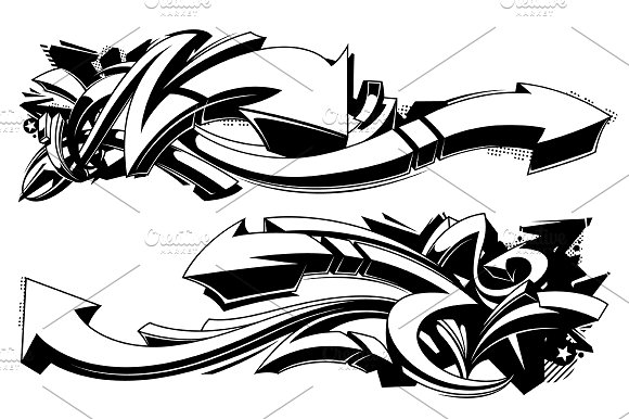 Graffiti Vector Arrows in Illustrations - product preview 2