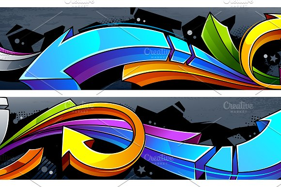 Graffiti Vector Arrows in Illustrations - product preview 5