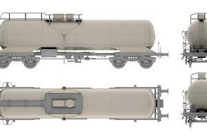 rail tank oil isolated on white
