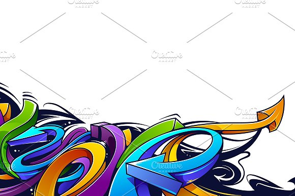 Graffiti Vector Arrows in Illustrations - product preview 4