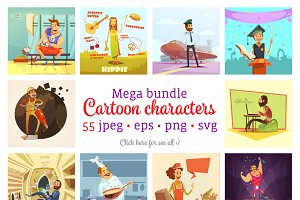 !SALE! Mega Cartoon Characters Set