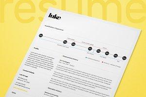 Single Page Resume/CV