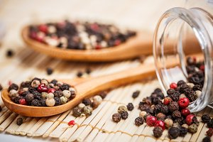 Colorful peppercorns