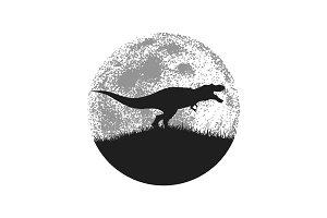 Silhouette of the tyrannosaur