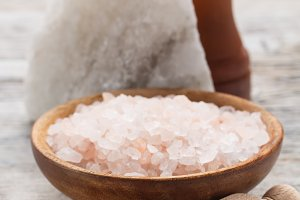 Salt in a bowl