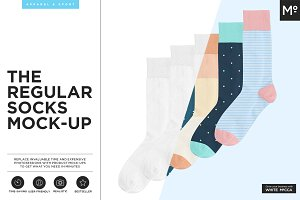 The Regular Socks Mock-up