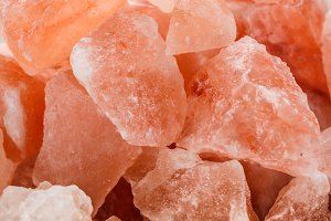 Pink crystal salt