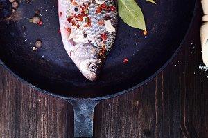 Fish carp in spices