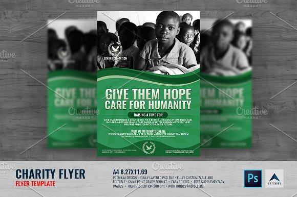 Charity Flyer V3 Flyer Templates Creative Market